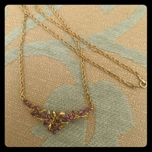 New Amethyst necklace set in gold bonding